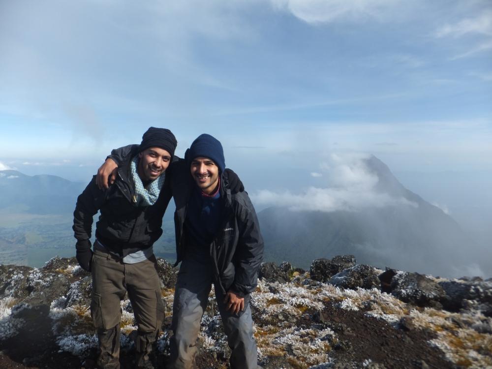 Atop Mt Karisimbi Rwandas tallest mountain